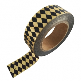 Masking tape Gold foil Black diamond
