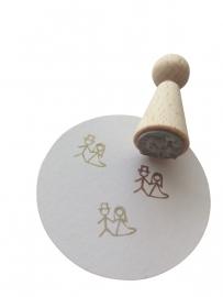 Mini Stempel - Bruidspaartje