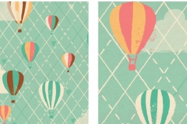 Pastel Wrapping Paper Balloons