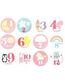 Milestone Stickers Little Girls