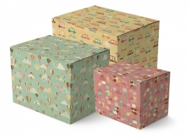Pastel Wrapping Paper Set