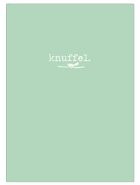 Kaart knuffel groen
