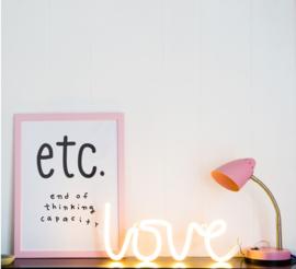 Neon stijl lamp - Love geel