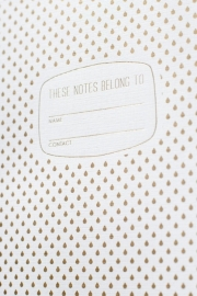 Notebook drip goud