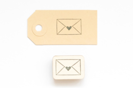 Stempel Envelop met hartje Studio Maas