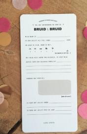 Invulkaarten BRUID & BRUID