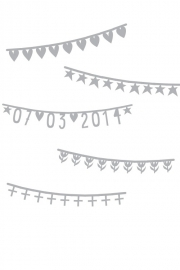 Word Banner Basic Set Silver