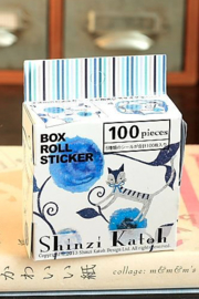 Shinzi Katoh stickers - blue cat