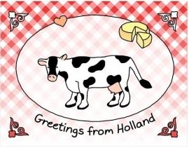 Groetjes uit Holland - koe