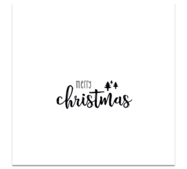 CHRISTMASCARD MONOCHROME - MERRY CHRISTMAS