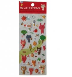 Stickers My Little Friends - red