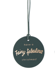 Gift Tag Fairy Fabulous Christmas