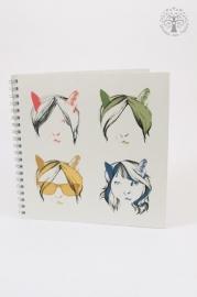Cat`s hair notebook
