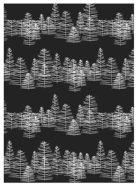 Cadeauzakjes Pine on Black - 17x25cm