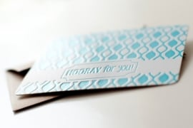 Hooray for you - letterpress blue