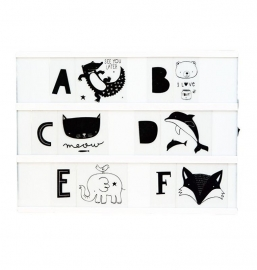 Letterset lightbox - ABC Black