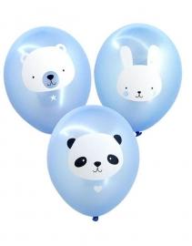 Ballonnen Baby Animals Blauw