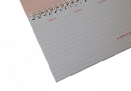 Weekly Planner - Roze