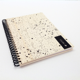 Office Notebook Wood - Dots Notes