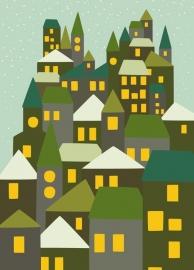 Winterkaart stad groen