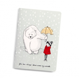 "Notebook A6 ""umbrella girl"""
