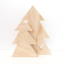 Houten Kerstboom Hart