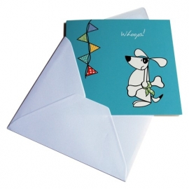 Greeting Card - Whoops dog