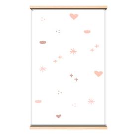 Behangpapier Pink cotton