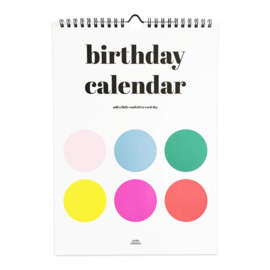 Birthday calendar dots