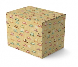 Pastel Wrapping Paper Cars