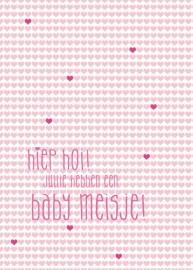 Kaart Baby Meisje