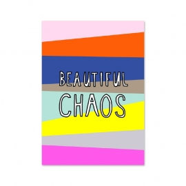 Postkaart Beautiful chaos - Chaos