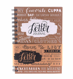My Letter Journal Kraft bruin