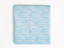 Inpakpapier Blue twist