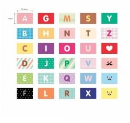 Stickerset ABC vlaggetjes