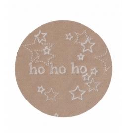 Stickers Kraft Ho Ho Ho