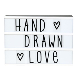 Letterset lightbox - Hand drawn
