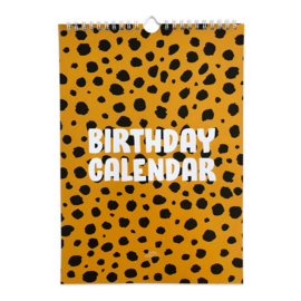 Birthday calendar Cheetah