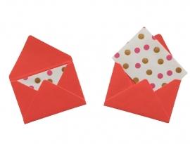 Mini envelopjes - Rood .13