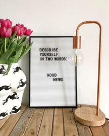 White Letter Board - including letters