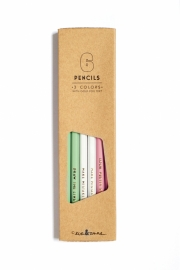 Pencil set gold foil