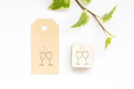Stempel Champagne Proost Studio Maas