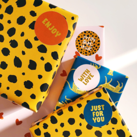 Wrapping sticker set