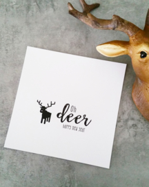 CHRISTMASCARD MONOCHROME - OH DEER