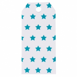 Gift tags - blauw ster