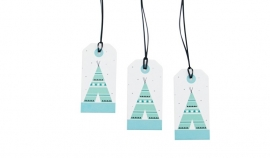 Paper Tags Sparkling Paper Tipi