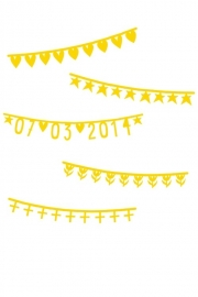 Word Banner Basic Set Gold