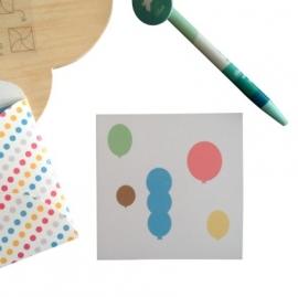 Minikaartje - ballonnen