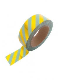 Washi Tape - Mint Gold Foil Stripe