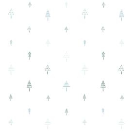 Behangpapier Blue trees